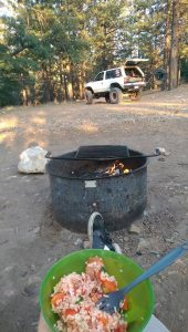 Dinner at the Fire